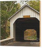 Loux Bridge And Sharp Left - Bucks County  Wood Print by Anna Lisa Yoder