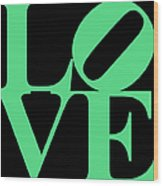 Love 20130707 Green Black Wood Print by Wingsdomain Art and Photography