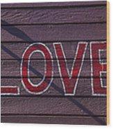 Love Wood Print by Garry Gay