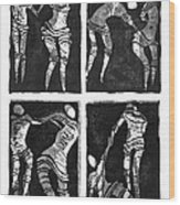 Love Is A Dance Wood Print by Gun Legler