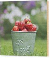 Love Strawberries Wood Print by Tim Gainey