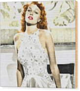 Lovely Rita Wood Print by Mo T