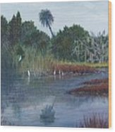 Low Country Social Wood Print by Ben Kiger