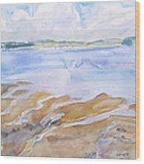 Low Tide - Penobscot Bay Wood Print by Grace Keown