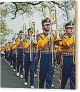 Lsu Marching Band 3 Wood Print by Steve Harrington