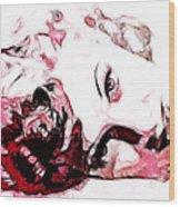 Lucille Ball Wood Print by D Walton