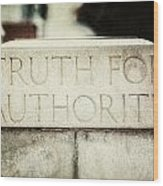 Lucretia Mott Truth For Authority Wood Print by Lisa Russo