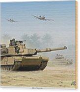 M1a2 Abrams Wood Print by Mark Karvon