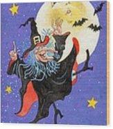 Mad Millie Moon Dance Wood Print by Richard De Wolfe