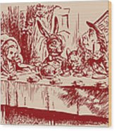 Mad Tea Party Wood Print by