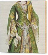 Mademoiselle Rachel As Roxanne In Bajazet Wood Print by Achille Deveria