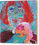 Madonna And Child Wood Print by Diane Fine