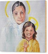 Madonna And Child Wood Print by Susan Lee Clark