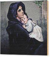 Madonnina Wood Print by A Samuel
