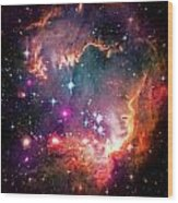 Magellanic Cloud 2 Wood Print by The  Vault - Jennifer Rondinelli Reilly