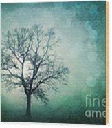 Magic Tree Wood Print by Priska Wettstein