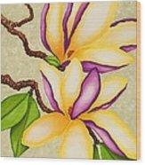 Magnolias Wood Print by Carol Sabo