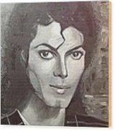 Man In The Mirror Wood Print by Belinda Low