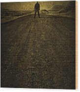 Man On A Mission Wood Print by Evelina Kremsdorf