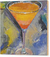 Mango Martini Wood Print by Michael Creese