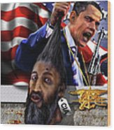 Manifestation Of Frustration - I Am Commander In Chief - Period - On My Watch - Me And My Boys 1-2 Wood Print by Reggie Duffie