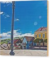 Marija Bistrica Square Colorful Panorama Wood Print by Brch Photography