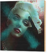 Marilyn 128 Tryp  Wood Print by Theo Danella