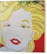 Marilyn Wood Print by Ethna Gillespie
