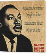 Martin Luther King Jr 1 Wood Print by Andrew Fare