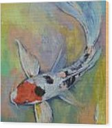 Maruten Butterfly Koi Wood Print by Michael Creese