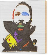 Marvin Gaye Wood Print by Stormm Bradshaw