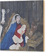 Mary And Baby Jesus Wood Print by Linda Clark