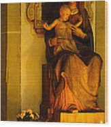 Mary And Baby Jesus Wood Print by Syed Aqueel