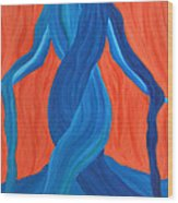 Mary - Mother Of Earth - Mother Of Light Wood Print by Daina White