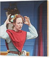 Maryland Renaissance Festival - A Fool Named O - 121217 Wood Print by DC Photographer