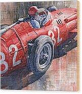 Maserati 250f J M Fangio Monaco Gp 1957 Wood Print by Yuriy  Shevchuk