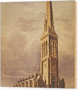 Masonry Church Circa 1850 Wood Print by Aged Pixel
