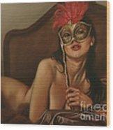 Masquerade I Wood Print by John Silver