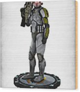 Mass Effect - Cerberus Soldier Wood Print by Frederico Borges