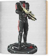 Mass Effect - N7 Soldier Wood Print by Frederico Borges