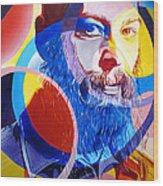 Matisyahu In Circles Wood Print by Joshua Morton