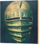 Maximilian Knights Armour Helmet Wood Print by Edward Fielding