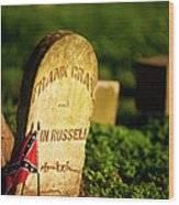 Mcgavock Confederate Cemetery Wood Print by Brian Jannsen