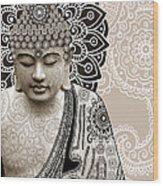 Meditation Mehndi - Paisley Buddha Artwork - Copyrighted Wood Print by Christopher Beikmann