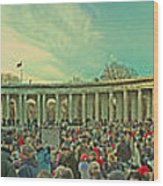 Memorial Amphitheater At Arlington National Cemetery Wood Print by Tom Gari Gallery-Three-Photography