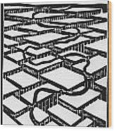 Mental Journey Wood Print by Mike Rhineheart