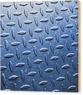 Metallic Floor Wood Print by Carlos Caetano