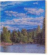 Methow River Crossing Wood Print by Omaste Witkowski
