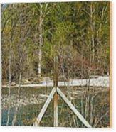 Methow River Springtime Wood Print by Omaste Witkowski