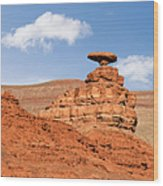 Mexican Hat Rock Wood Print by Christine Till